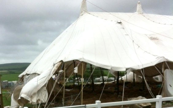 bloody awful wedding marquee